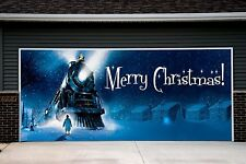 Merry Christmas Garage Door Covers Banners Outside Home Decor Billboard Art GD80