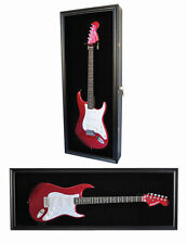 Fender / Electric Guitar Display Case Wall Cabinet, Door with Lock-Gtar2(BL)-BLA