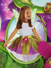 Disney Fairies Tinkerbell Tutu & Wings Girl's Size 4-6 - Tink's Party Costume