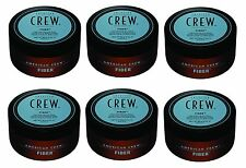AMERICAN CREW FIBER. TEXTURE, MATT FINISH. STRONG HOLD. LARGE 85G WAX x 6