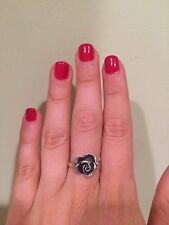 Urban Outfitters Ring Silver Rose Size 8