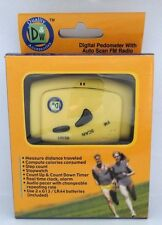 D&W Digital Pedometer With Auto Scan FM Radio Stopwatch Clock Alarm Step Count