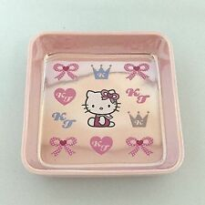 Hello Kitty Ceramic Square Plate Dish Porcelain Pink Face Sanrio Made in Japan