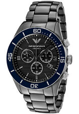 Men's Watches Emporio Armani AR1429 Luxury Watch Ceramica Chronograph Date