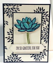 Stampin up Lovely Dahlia flower stamp use with remarkable you set