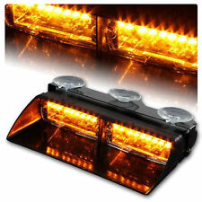 12V Amber 16 LED 18 Modes Windshield Emergency Hazard Warning Strobe Flash Light
