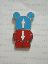 AUTHENTIC Disney Vinylmation Pin Jr #5 This And That UP & DOWN ARROWS REAL
