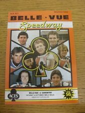 01/09/1984 Speedway Programme: Belle Vue v Coventry [Knock Out Cup] (results tab
