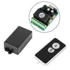 DC 12V 2 CH Signal Wireless RF Remote Control Receiver Relay Switch 433MHz