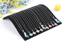 Stylish Velvet Necklace Chain Pendant Display Jewelry Organizer Stand Holder SAU