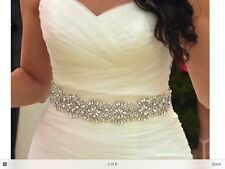 Gorgeous Ivory Pearls & Rhinestone Wedding Sash & Bridal Belt