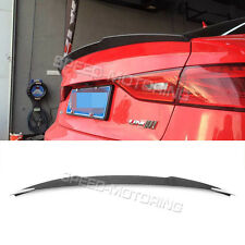 Rear Trunk Spoiler Wing Boot Lip Carbon Fiber Fit for Audi A3 S3 Sedan 2013UP