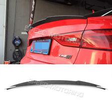 Rear Trunk Spoiler Wing Boot Lip Carbon Fiber Fit for Audi A3 S3 Sedan 2013UP