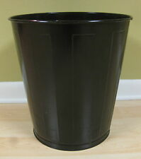 "Vintage old LAWSON METAL GARBAGE CAN black 14 1/2"" tall GREAT CONDITION"