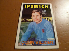 A&BC Chewing Gum Football Card 1972/73 Red Orange Back COLIN VILJOEN Ipswich 115