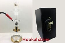 CLEAR Al Fakher ALL GLASS HOOKAH SHISHA EXTRA ACCESSORY LEATHER CASE