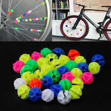 36Pcs Plastic Multi-color Bike Cycle Wheel Spoke Beads Children Bicycle Decors