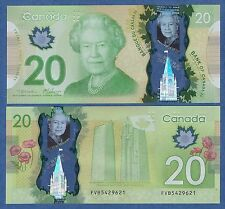 CANADA 20 Dollar P New 2012 UNC Polymer Low Shipping! Combine FREE!