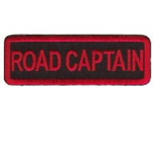 ROAD CAPTAIN  MOTORCYCLE CLUB - RED ON BLACK  PATCH