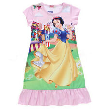 Girls Kids Nightie Nightdress Disney Character Childrens Pyjamas Age 2-13 Years