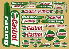 Castrol Oil decals set of 26 quality printed stickers plus FREE Sticker Decal
