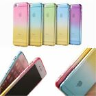 ULTRA THIN OMBRE Rainbow Gradient Gel Soft Cover Case For iPhone 5 5S 6 6s 6PLUS