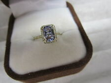 GORGEOUS 14 KT GOLD 1.46 CTW TANZANITE AND DIAMOND RING !!!!!!!