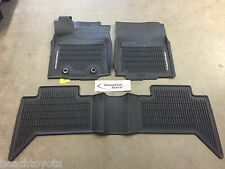 16-17 TACOMA DOUBLE CAB AUTO TRANS ALL WEATHER RUBBER FLOOR LINER MATS GENUINE