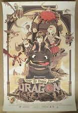 How To Train Your Dragon Variant Patrick Connan screenprint Poster Metallics!