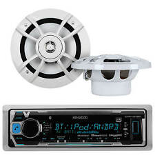 "Kenwood Marine Bluetooth MP3 USB Stereo Receiver 6.5""Marine Speakers KMR-M312BT"