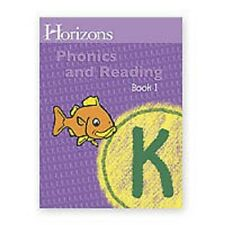 AOP Horizons KINDERGARTEN Grade K PHONICS & READING Homeschool Workbook Book 1