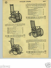 1932 PAPER AD Cane Woven Seat Back Wheel Chair Invalid Invalid's