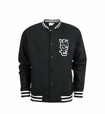BRAND NEW WESC MENS GUYS VARSITY JACKET FLEECE SWEATSHIRT BASEBALL COAT TOP XL