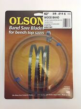 "Olson Band Saw Blade 62"" x 3/8"", 6 TPI for Craftsman 21419, Skil 3104 & Grizzly"