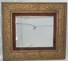Aesthetic VICTORIAN GOLD Compo Wood Picture Frame FLOWERS Leaves  10 x 12 ins.