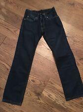 Mens LEVI 511 W30 L30 30 x 30 Jeans Slim Skinny Fit Leg Red Tab Dark Blue-Vvgc