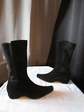 bottes to bé daim noir et matière élastique  noire 38