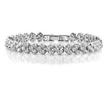 Sparkly Clear White Zircon Tennis Bracelet Bangle Women Bridal Gift Jewellery