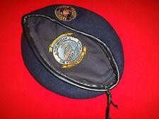 Vietnam War US Navy MINE DIVISION 112 Dark Blue Wool Beret