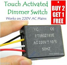 E17 Touch Sensitive 4 way Bulb Dimmer Switch Sensor Works on AC 220V