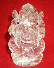 Lord Ganesha Made in Pure Sphatik / Quartz Crystal Ganesh - 240 gm - Certified