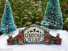 Miniature Dollhouse FAIRY GARDEN ~ Victorian Village CHRISTMAS Sign NEW