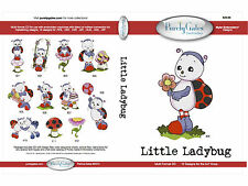 LITTLE LADY BUG MULTI FORMAT MACHINE EMBROIDERY CD BY PURELY GATES USA