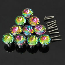 10pcs 30 mm Diamond Shape Crystal Glass Knob Cabinet Cupboard Drawer Pull Handle