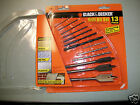 13 PC Drill Bit Set 3 Masonry 3 spade 7 General Purpose Black & Decker