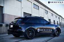 20x9 +35 20x10 +40 Rohana RC10 5x114 Black Wheels Fit Infiniti Fx35 Fx45 Concave
