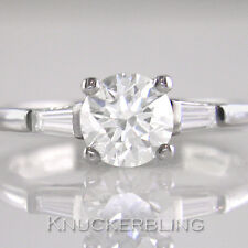1.18ct H VS1 Exc Diamond Brilliant Cut Certified 18ct White Gold Engagement Ring
