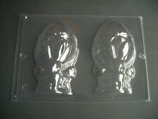 2 ON 1 BUNNIES EASTER EGG WITH BOW MOULD/MOULDS/3-D/14 CM HIGH/FIVE 1/2 INCHES