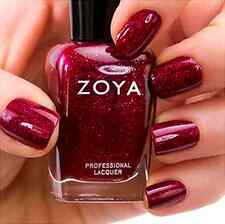 ZOYA ZP641 BLAZE mulberry red holographic glitter nail polish~FESTIVE FAVORITES