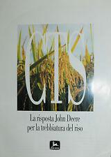 """PUBBLICITA' WERBUNG """" CTS : La risposta John Deere per la trebbiatura del riso"""
